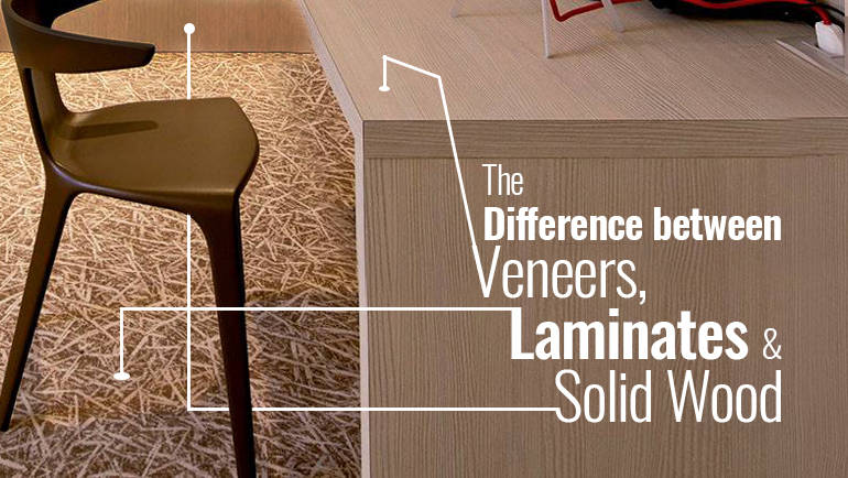 The Difference between Veneers, Laminates & Solid Wood